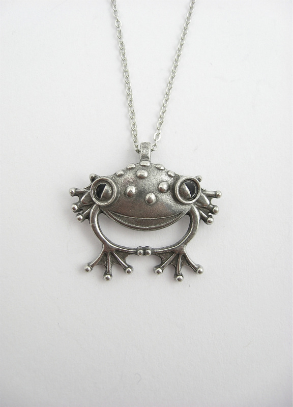 Smiling frog pendant sculptures by stepper a wearable version of the best selling small smiling frog sculpture this sculptural pendant features fantastic dimension personality and details mozeypictures Image collections